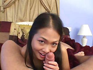 Deepthroating POV Asian