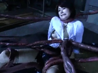 Alien Tentacles Cum For everyone Over Her!